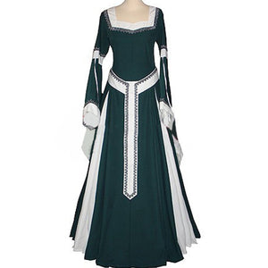 Women Medieval Renaissance Victorian Dress Halloween Carnival Costume