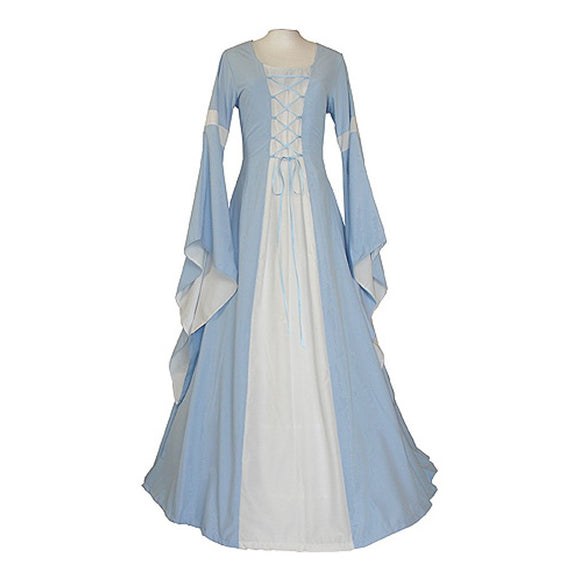 Womans Halloween Costume Medieval Renaissance Victorian Dress Light Blue
