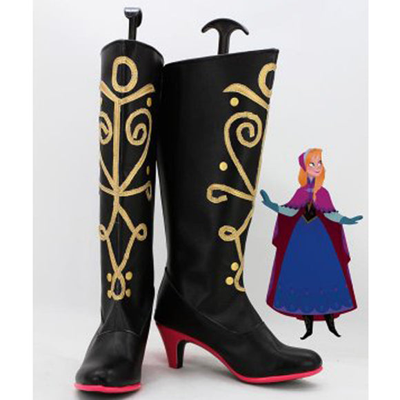 Princess Anna of Arendelle Hight Heel Cosplay Boots Women Party Shoes
