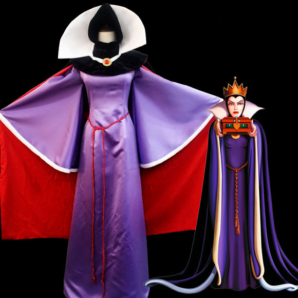 Snow White Evil Queen Cosplay Costume Adult Women Halloween Carnival Luxury Dress