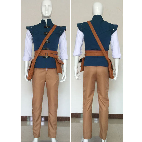 Flynn Rider Prince Eugene Fitzherbert Cosplay Costume Outfit For Adults Custom made