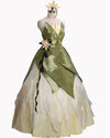 Princess Tiana Costume,Tiana Dress,Tiana Princess Cosplay Costume for Adult and Kids
