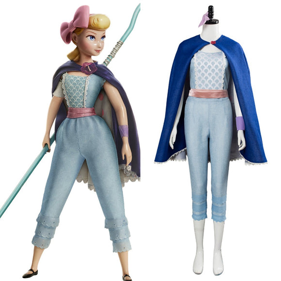 Toy Story 4 Bo Peep Cosplay Costume Women Halloween Outfit