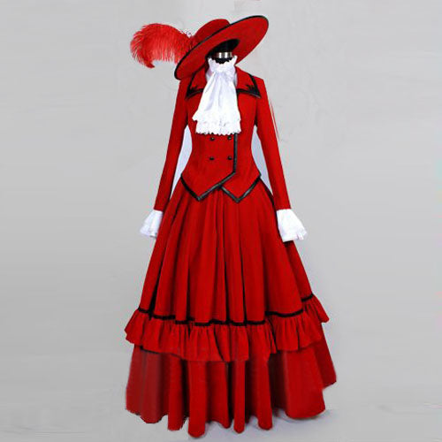 Black Butler Madam Red Angelina Dalles Dress Cosplay Costume
