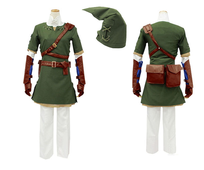 ca7481932 ... Legend Of Zelda Twilight Princess Link Cosplay Costume Tunic Outfit For  Adult ...