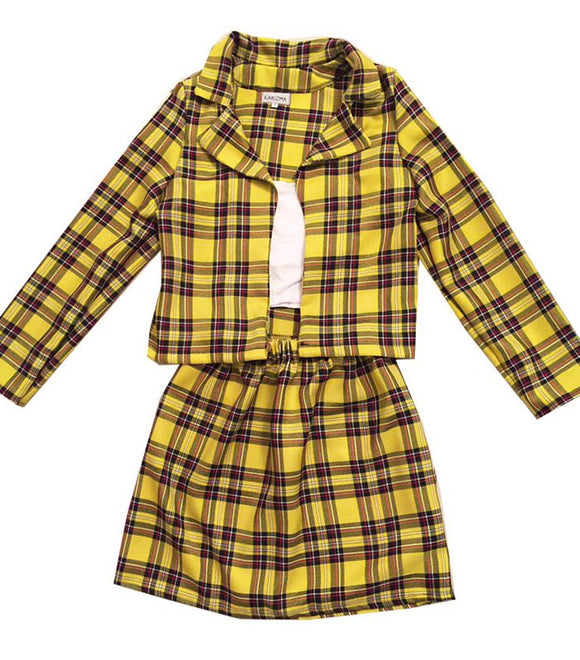 Clueless Cher Costume Yellow Outfit Tartan Skirt Custom Made