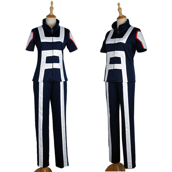 Boku no Hero Academia My Hero Academia Izuku Midoriya Cosplay Costume Gymnastics Training Uniforms Dark Blue