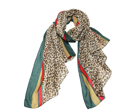 Forest Spotted Leopard Scarf
