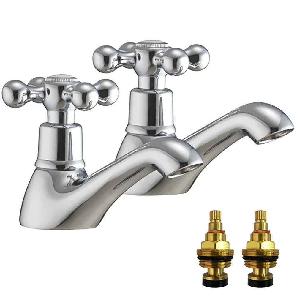 Traditional Victorian Hot & Cold Bath Taps (Viscount 3)