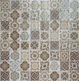 Brown Patterned Glass Mosaic Tile Sheet (MT0181)