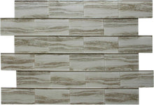 Load image into Gallery viewer, Tan Wood Effect Glass Subway Tile 75x150mm (MT0183)