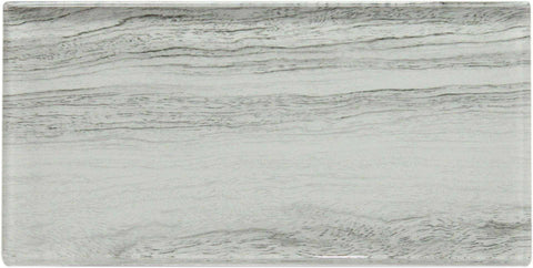 White Wood Effect Glass Metro Tile 75x150mm (MT0182)