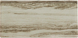 Tan Wood Effect Glass Subway Tile 75x150mm (MT0183)