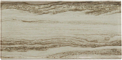 Tan Wood Effect Glass Metro Tile 75x150mm (MT0183)