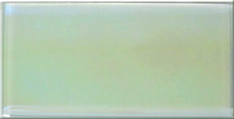 Lustrous Pearl White Iridescent Glass Metro Tile 75x150mm (MT0177)