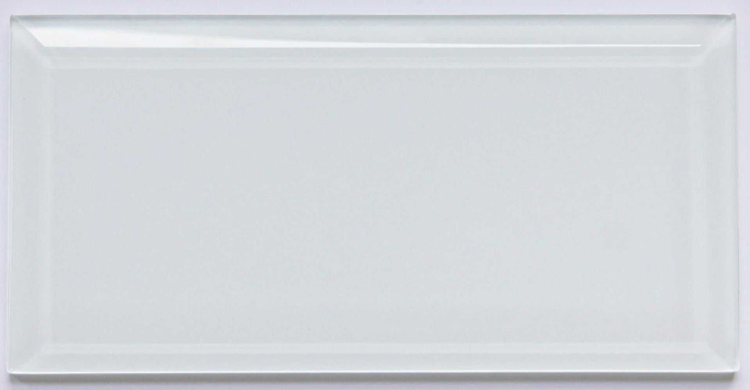 Super White Beveled Glass Subway Tile 100 x 200mm (MT0189)