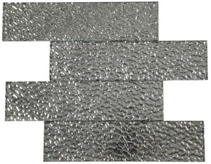 Silver Lava Glass Subway Tile 75x300mm (MT0192)