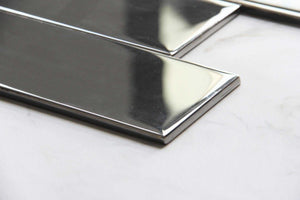 Silver Mirror Glass Subway Tile 75x300mm (MT0193)