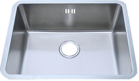 588 x 461mm Undermount Brushed Stainless Steel Single Bowl Kitchen Sink (A02 bs)
