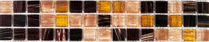 Tigers Eye Copper Mosaic Tile Border | Copper Tile Border | Grand Taps