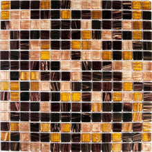 Load image into Gallery viewer, Sample of Golden Star Tigers Eye Glass Mosaic Tiles Sheet (MT0062)