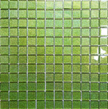 Lime Green Glitter Glass Mosaic Kitchen Bathroom Tiles | Grand Taps