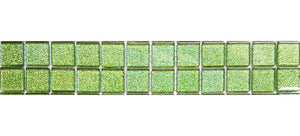 Green Glitter Glass Mosaic Bathroom Kitchen Tiles Border | Grand Taps