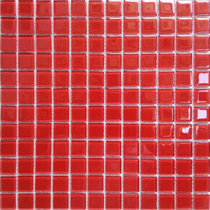 Red Glass Mosaic Bathroom Kitchen Splashback Tiles | Grand Taps