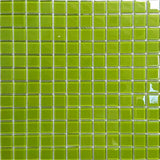 Sample of Green Glass Mosaic Mosaic Tiles Sheet (MT0023)