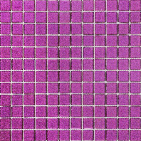 Purple Glitter Glass Mosaic Tiles (MT0069)