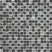 Load image into Gallery viewer, Black Crackle Glass Mosaic Kitchen Bathroom Tiles | Grand Taps