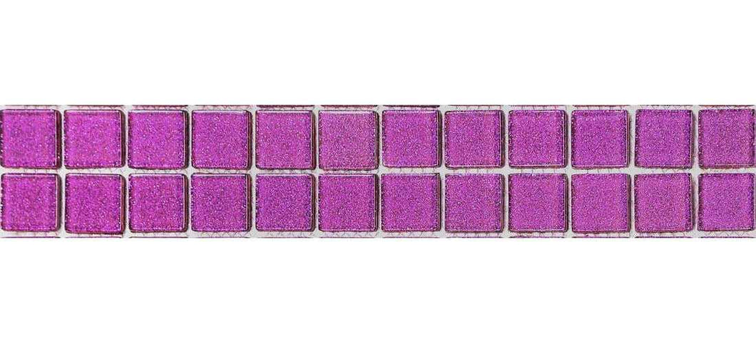 Glitter Purple Mosaic Tile Border | Purple Kitchen Tiles | Grand Taps