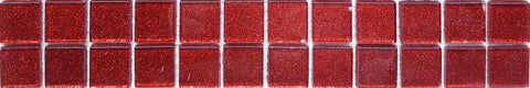 Glitter Red Mosaic Tiles Border | Red Glitter Kitchen Tiles | Grand Taps
