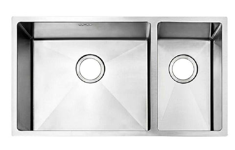 793 x 461mm Undermount 1.5 Bowl Handmade Stainless Steel Kitchen Sink With Easy Clean Corners (DS033)