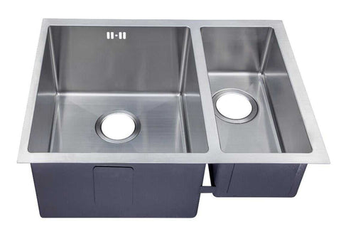 585 x 440mm Undermount 1.5 Bowl Handmade Stainless Steel Kitchen Sink With Easy Clean Corners (DS029)