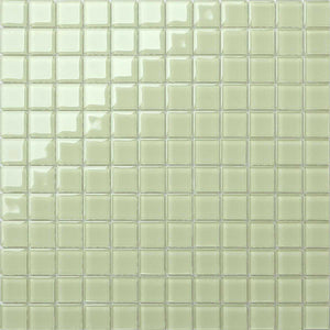 Light Green Glass Mosaic Bathroom Kitchen Splashback Tiles | Grand Taps