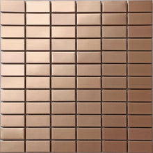 Load image into Gallery viewer, Copper Effect Stainless Steel Mosaic Wall Tiles (MT0105)