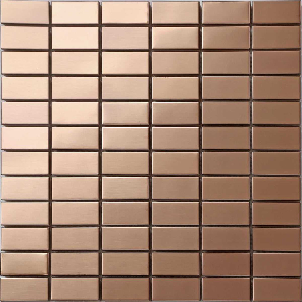 Copper Effect Stainless Steel Mosaic Wall Tiles (MT0105)