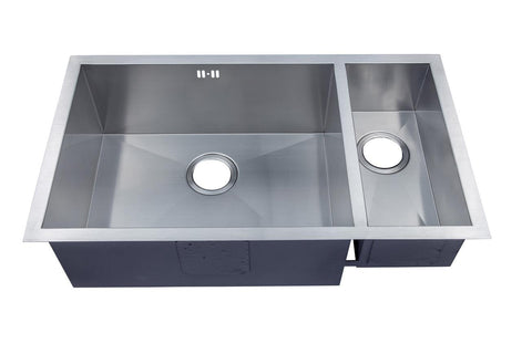 793 x 461mm Undermount 1.5 Bowl Handmade Stainless Steel Kitchen Sink (DS032)
