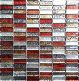 Red Gold Orange Glass Mosaic Bathroom Kitchen Tiles | Grand Taps