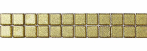 Gold Glitter Glass Mosaic Border | Gold Sparkle Mosaic Strip | Grand Taps
