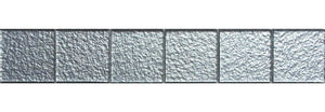 30x5cm Silver Stone Structure Foil Glass Mosaic Tiles Strip (MB0005)
