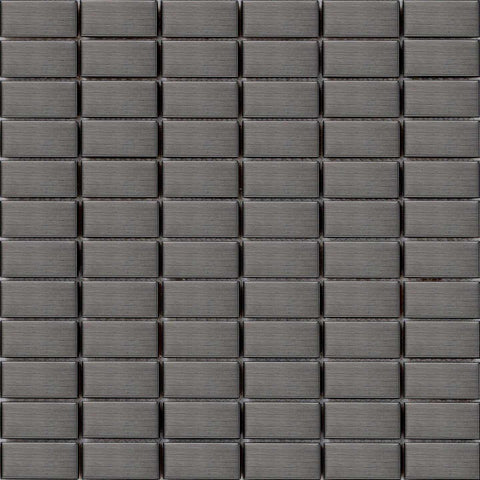 Brushed Black Grey Steel Mosaic Kitchen Bathroom Tiles | Grand Taps