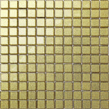 Glitter Gold Glass Mosaic Tiles Sheet (MT0080)