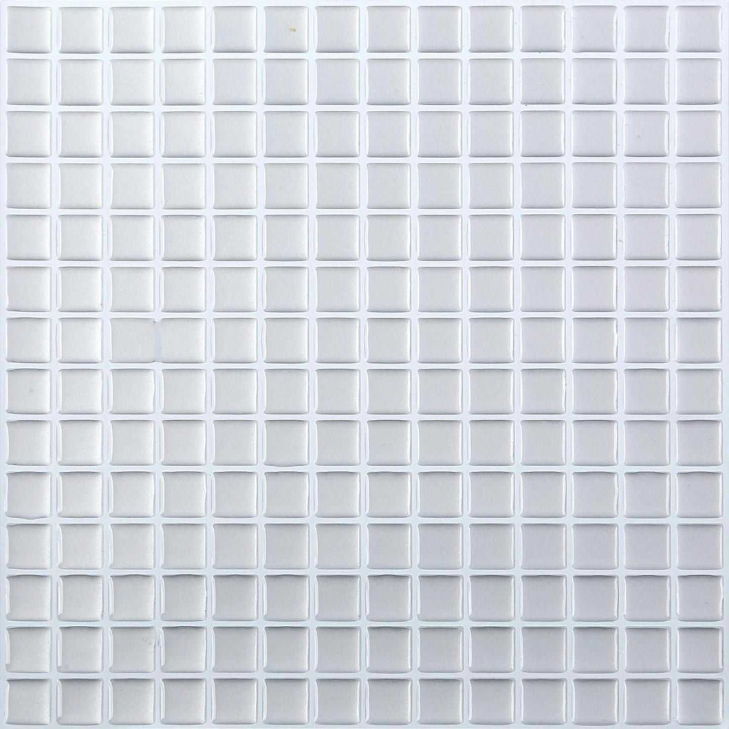 4 Pack of Silver 3D Gel Mosaic Effect Self-Adhesive Tile Sheets (3D0002)