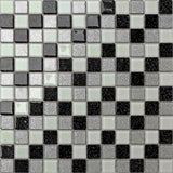 Black Silver Mosaic Kitchen Tiles | Glitter Bathroom Tiles | Grand Taps