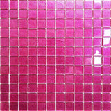 Glitter Pink Glass Mosaic Tiles Sheet (MT0018)