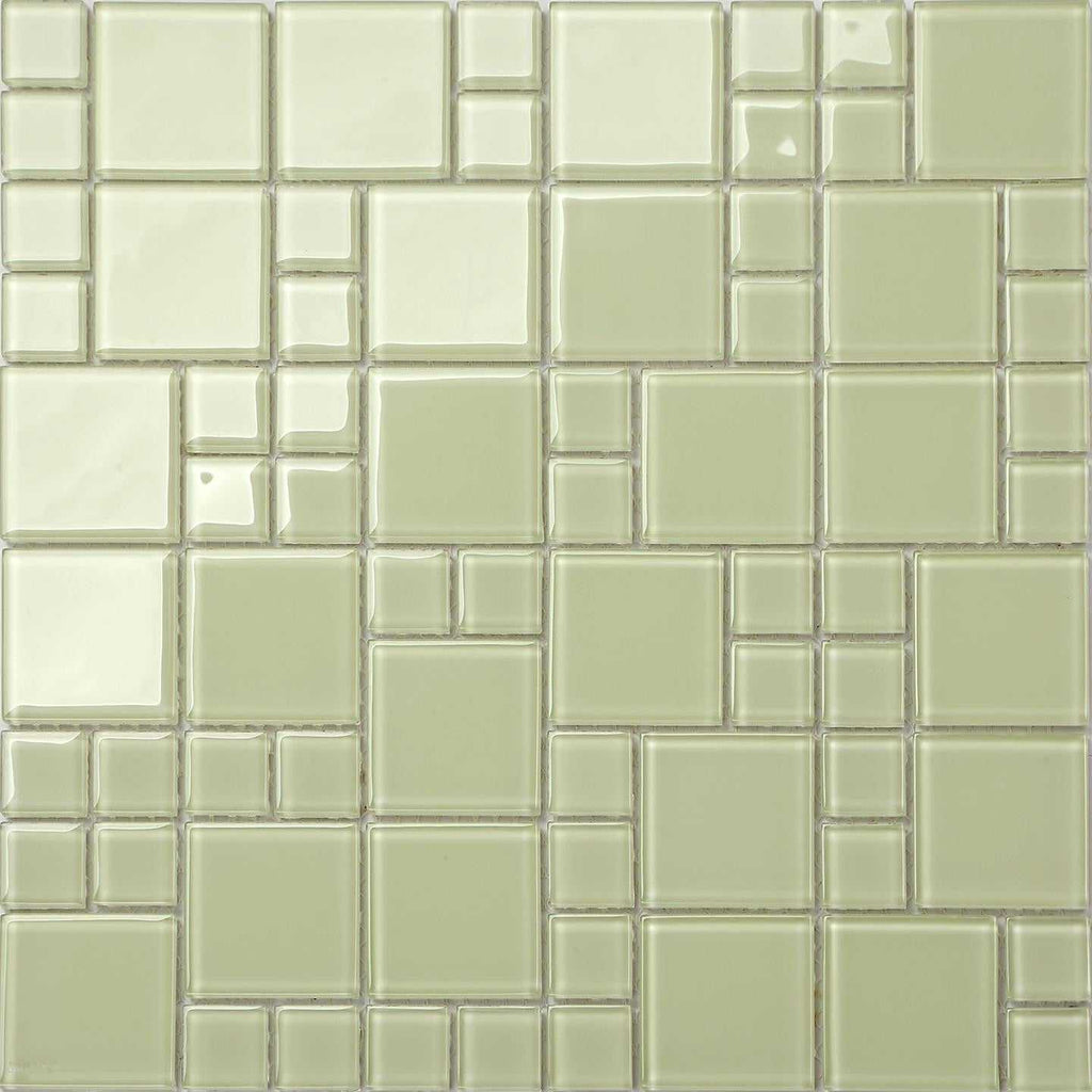 Light Green Mix Mosaic Kitchen Splashback Bathroom Tiles