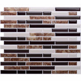 Brown Marble Stone Mosaic Self-Adhesive Tile Transfer Stickers | Grand Taps