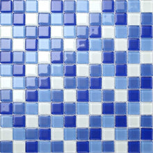 Load image into Gallery viewer, Blue & White Glass Mosaic Tiles (MT0081)